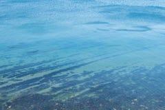 Vista superior de la calma del Mar Negro Foto de archivo libre de regalías
