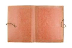 Vista superior de la carpeta vieja abierta del documento en blanco Fotografía de archivo libre de regalías