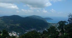 Vista superior de la ciudad imagen de archivo libre de regalías