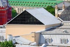 Vista superior de la ciudad imagenes de archivo