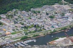 Vista superior de la ciudad del squamish Imágenes de archivo libres de regalías