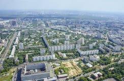 Vista superior de la ciudad grande en el verano Fotos de archivo libres de regalías