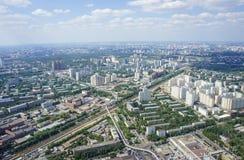 Vista superior de la ciudad grande en el verano Imágenes de archivo libres de regalías