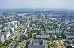 Vista superior de la ciudad grande en el verano Fotografía de archivo