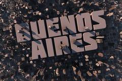 Vista superior de la ciudad urbana en 3D Foto de archivo