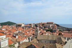 Vista superior de la ciudad vieja de Dubrovnik Fotos de archivo libres de regalías