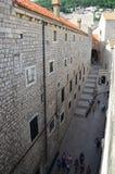 Vista superior de la ciudad vieja en Dubrovnik Imagen de archivo