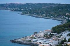 Vista superior de la costa Foto de archivo