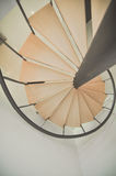 Vista superior de la escalera Foto de archivo