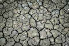 Vista superior de la grieta de tierra del fango Fotografía de archivo