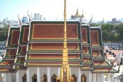 Vista superior de la montaña de oro en Wat Saket de Wat Rat Natda Ram Imagenes de archivo
