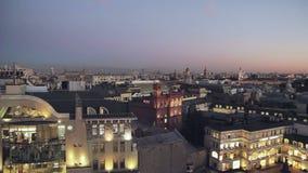 Vista superior de la Moscú de igualación almacen de metraje de vídeo
