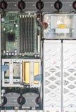 Vista superior de la PC del servidor Imagen de archivo