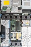 Vista superior de la PC del servidor Imágenes de archivo libres de regalías