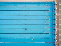 Vista superior de la piscina Imágenes de archivo libres de regalías