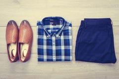 Vista superior de la ropa Fotografía de archivo libre de regalías
