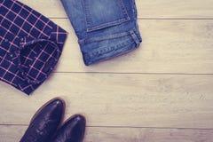 Vista superior de la ropa Imagen de archivo