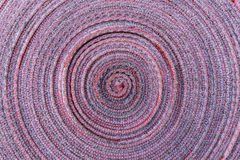 Vista superior de la textura del carrete de la manguera de bomberos como fondo imagen de archivo libre de regalías