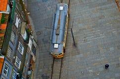 Vista superior de la tranvía. imágenes de archivo libres de regalías