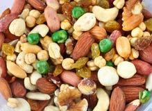 Vista superior de las nueces mezcladas sanas Assorted Imagen de archivo