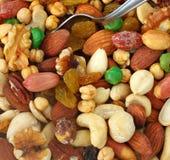 Vista superior de las nueces mezcladas sanas Assorted Fotografía de archivo libre de regalías
