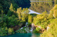 Vista superior de los lagos Plitvice fotos de archivo libres de regalías