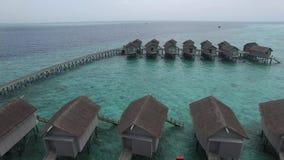 Vista superior de Maldivas video estoque