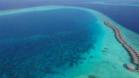 Vista superior de Maldivas metrajes