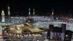 Vista superior de Masjidil Haram almacen de video