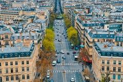 Vista superior de Paris fotos de stock