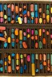 Vista superior de pastéis da pintura Foto de Stock