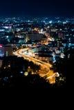 Vista superior de Pattaya en la noche Foto de archivo