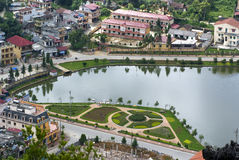 Vista superior de Sapa, Vietnam Imagenes de archivo