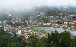 Vista superior de Sapa, Vietnam Foto de archivo