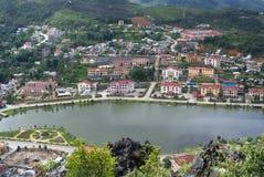 Vista superior de Sapa, Vietnam Imagem de Stock