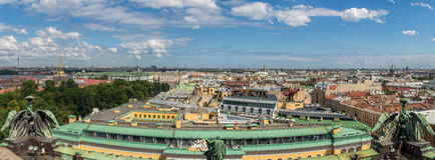Vista superior de St Petersburg de la catedral de Isaac en verano Rusia Fotos de archivo libres de regalías