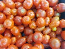 vista superior de tomates de cereja fotos de stock