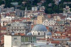 Vista superior de Trieste, Italia Foto de archivo libre de regalías