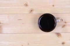 Vista superior de um copo do café preto Fotos de Stock