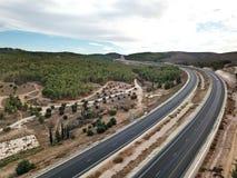 Vista superior de uma estrada em Israel Fotografia de Stock Royalty Free