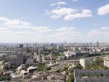 Vista superior de uma metrópole Fotos de Stock