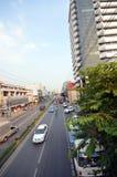 Vista superior de uma rua em Banguecoque, Tailândia Fotos de Stock Royalty Free