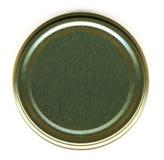 Vista superior de uma tampa do frasco imagens de stock