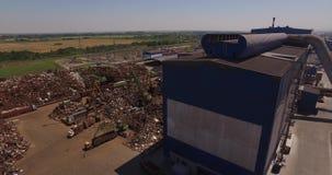 Vista superior de una planta metalúrgica almacen de video