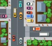 Vista superior de urbano ilustración del vector