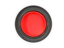 Vista superior del botón rojo Foto de archivo