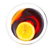 Martini rojo Fotografía de archivo libre de regalías