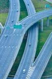 Vista superior del camino de la carretera Imagenes de archivo