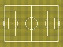 Vista superior del campo de fútbol o del campo de fútbol Imagenes de archivo