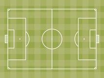 Vista superior del campo de fútbol o del campo de fútbol Imágenes de archivo libres de regalías